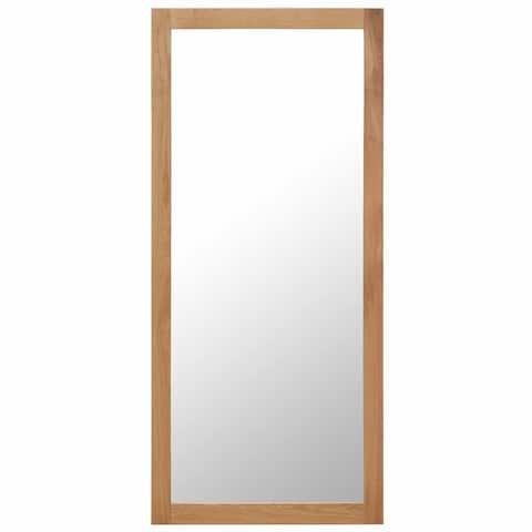 """vidaXL Mirror 19.6""""x55.1"""" Solid Oak Wood"""