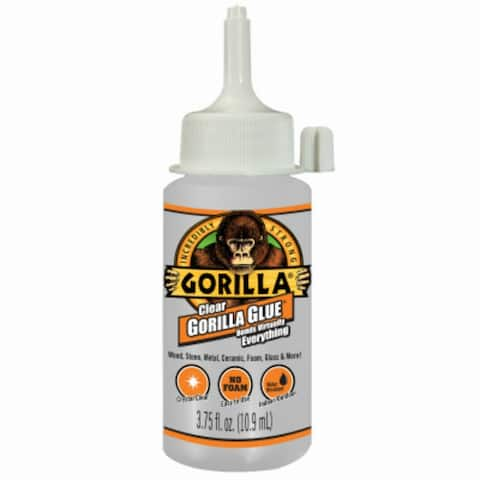 Gorilla 4537502 Crystal Clear Glue with Non-Foaming Formula, 3.75 Oz