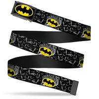 Batman Fcg Black Yellow Black Frame Batman W Bat Shield & Flying Bats Web Belt