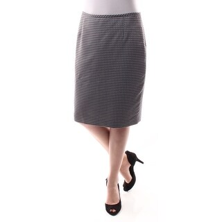 Womens Gray Geometric Below The Knee A-Line Wear To Work Skirt Petites Size 6