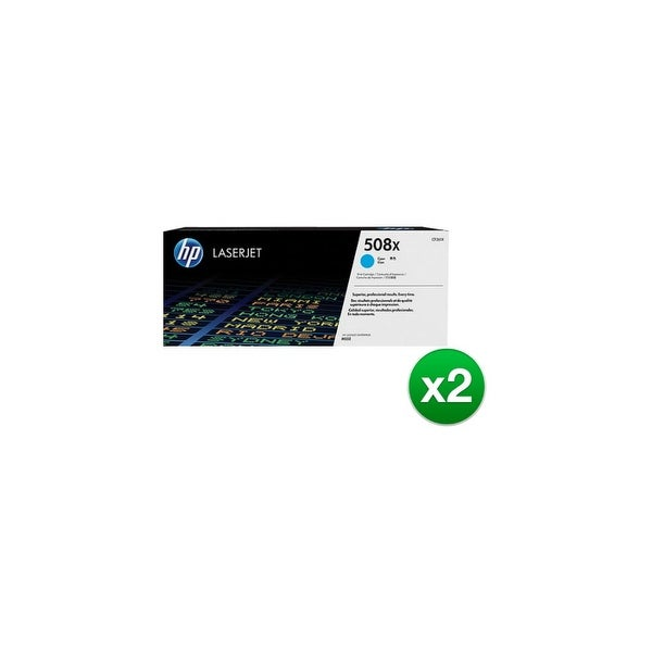 HP 508X Cyan High Yield Original LaserJet Toner Cartridge (CF361X)(2-Pack)