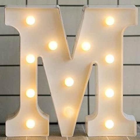 Luminous LED Letter Night Light English Alphabet Number Lamp Wedding Party Decoration Christmas Home Decoration - Medium