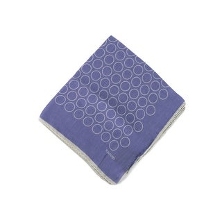 Tom Ford Mens Purple Outlined Circles Pocket Square - One size