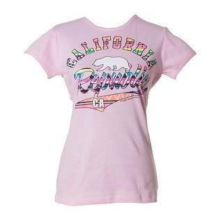 Womens California Republic Tribal Script Short-Sleeve T-Shirt