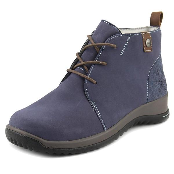 Jambu Rossella Women Round Toe Leather Blue Desert Boot