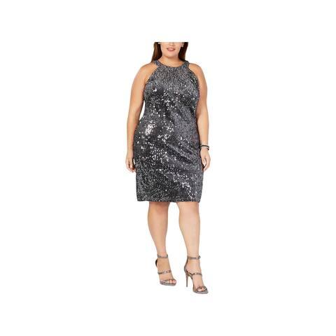 Nightway Womens Plus Cocktail Dress Party Velvet