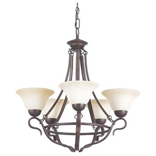 "Sunset Lighting F5495 Venice 5 Light 500 Watt 25"" Width Chandelier"