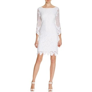 Laundry by Shelli Segal Womens Cocktail Dress Embroidered A-Line