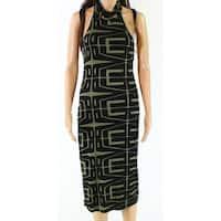 Clayton NEW Black Womens Size Medium M Abstract-Print Maxi Dress