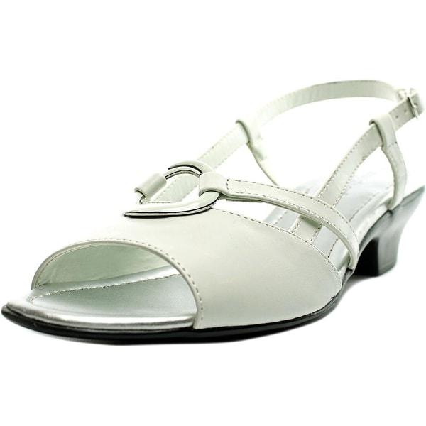 Easy Street Tempe Women W Open Toe Synthetic White Sandals