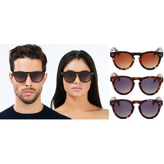 PRIVE REVAUX ICON Collection The Warhol Handcrafted Designer Round Polarized Sunglasses