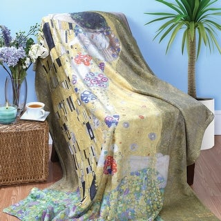 Klimt The Kiss Fleece Throw Blanket
