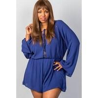 5692d7d1faa Shop Ladies Fashion Plus Size Mini Length Grey Glen Plaid Surplice ...