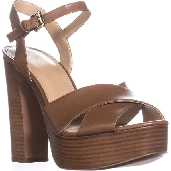 f63f767172 Shop MICHAEL Michael Kors Sia Platform Sandals, Luggage - 10 us / 41 ...