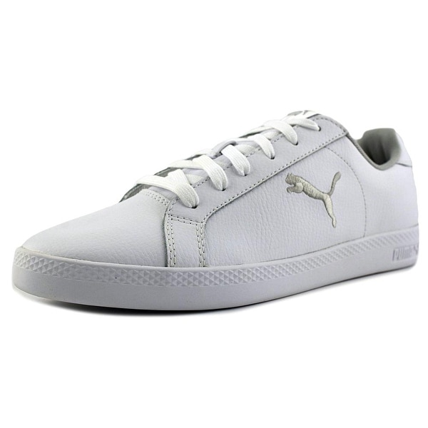 Puma Smash Cat L Women Leather White Fashion Sneakers