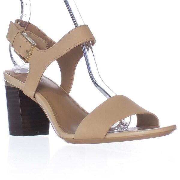 Calvin Klein Cimi Ankle Strap Dress Sandals, Sandstorm Leather