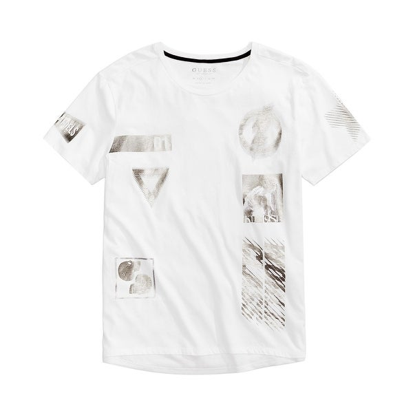 00a7e67b1 Shop Guess Mens Large Metallic Mesh Hem Graphic Tee T-Shirt - Free Shipping  On Orders Over  45 - Overstock.com - 27149233