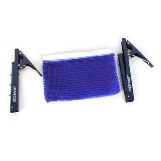 """69"""" x 5.8"""" Foldable White Brim Royal Blue Table Tennis Net w Brackets"""