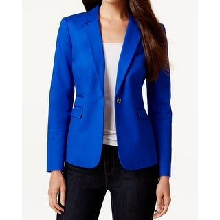 Vince Camuto NEW Blue Womens Size 2 Notched-Lapel One-Button Blazer