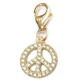Julieta Jewelry Peace Sign Outline CZ Clip-On Charm