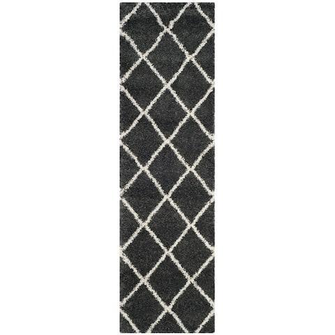 SAFAVIEH Hudson Shag Estella Diamond Trellis 2-inch Thick Rug