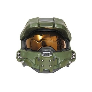 Disguise Master Chief Adult Light-Up Deluxe Helmet - Green