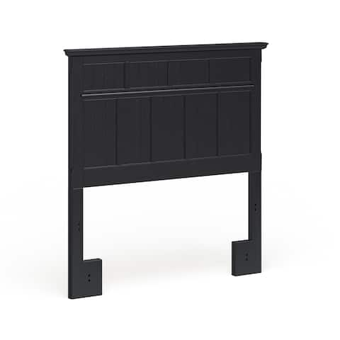 Furniture of America Tisc Cottage Black Twin Solid Wood Headboard