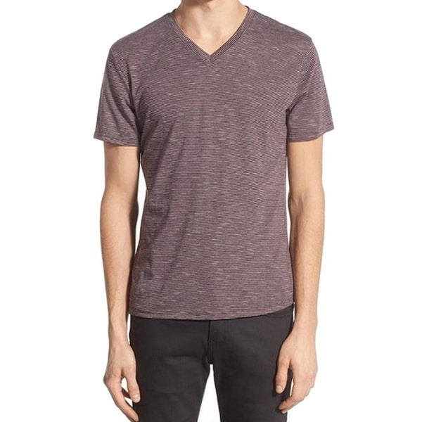 f07bdfef7ea Shop THE RAIL NORDSTROM NEW Red Mens XS Short Sleeve Stripe V-Neck Tee T- Shirt - Free Shipping On Orders Over  45 - Overstock.com - 16749933