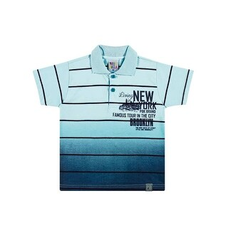 Toddler Boy Polo Style Shirt Little Boys Striped Tee Pulla Bulla Sizes 1-3 Years