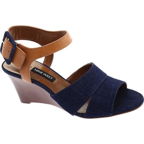 79933926136 Shop Nine West Women s Vahan Wedge Sandal Denim - Free Shipping On ...