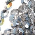 Czech Fire Polished Glass Beads 6mm Round Crystal Marea (25) - Thumbnail 0