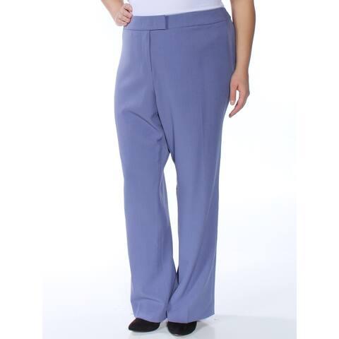 ANNE KLEIN Womens Blue Pants Size 22W
