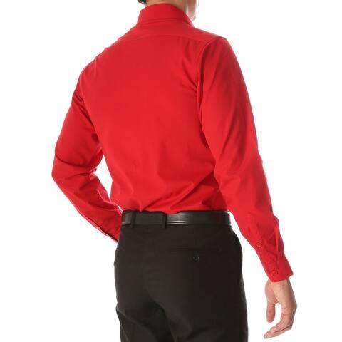 Ferrecci Mens Leo Slim Fit Cotton Long Sleeve Dress Shirt