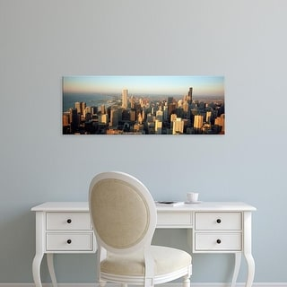 Easy Art Prints Panoramic Images's 'High angle view of buildings in a city, Chicago, Illinois, USA' Premium Canvas Art