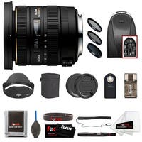 Sigma 10-20mm f/3.5 EX DC HSM Lens For Canon Camera Bundle