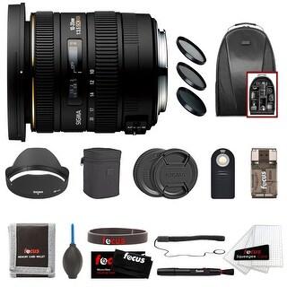 Sigma 10-20mm f/3.5 EX DC HSM Lens For Canon Camera Bundle