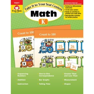 Take It To Your Seat Gr K Math Centers