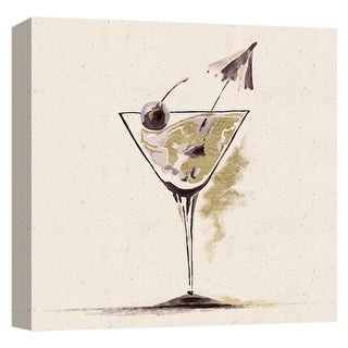 """PTM Images 9-124703  PTM Canvas Collection 12"""" x 12"""" - """"Martini"""" Giclee Liquor & Cocktails Art Print on Canvas"""