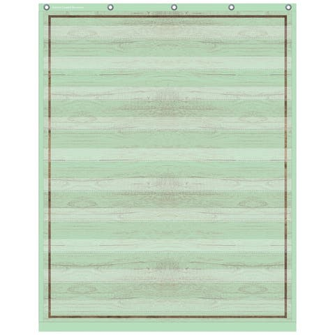 "Mint Painted Wood 10 Pocket Chart, 34"" x 44"" - One Size"