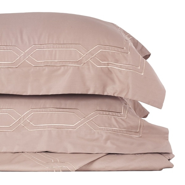 Metropolitan Stitch Duvet Cover Set Bedding Set 3 Pc Set Taupe King Size