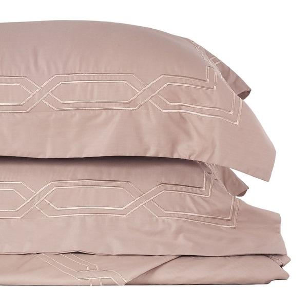 Metropolitan Stitch Duvet Cover Set Bedding Set 3 Pc Set Taupe Queen Size