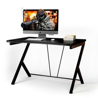 Link to Costway Gaming Desk Computer Desk PC Laptop Table Workstation Home Similar Items in Home Office Furniture