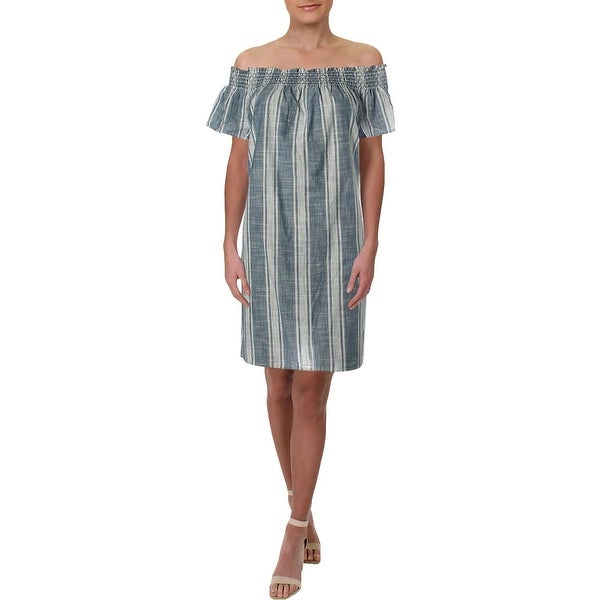 1b0acf92ee7a Shop Lucky Brand Womens Casual Dress Off-The-Shoulder Above Knee Mini -  Free Shipping On Orders Over $45 - Overstock - 27990687