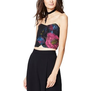 Rachel Rachel Roy Womens Strapless Top Floral Print Crop Top (More options available)