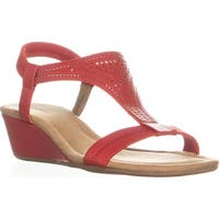 A35 Vacanzaa2 Wedge Peep-Toe Sandals, Roo Red