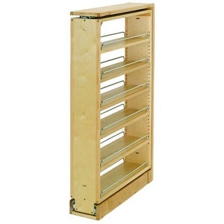 """Rev-A-Shelf 432-TF39-6C 432 Series 6"""" Wide by 39"""" Tall Upper Cabinet Filler Organizer with Five Adjustable Shelves"""