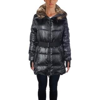 Aqua Womens Anorak Jacket Down Hooded