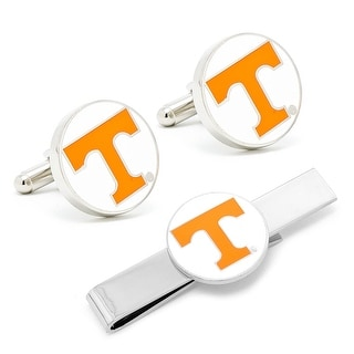 University of Tennessee Volunteers Cufflinks and Tie Bar Gift Set - Yellow
