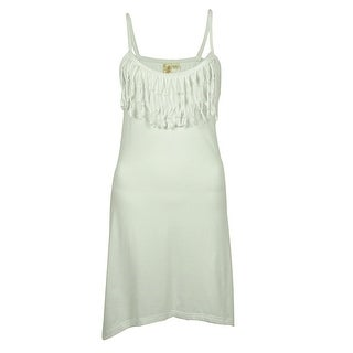 Miken Women's Fringle High Low Dress Cover ups