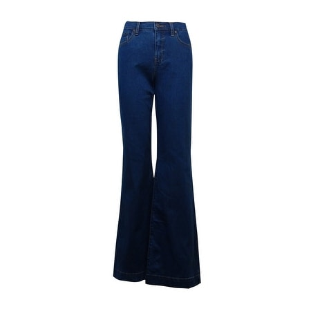 Free People Women's Mid-Rise Stitched Flared Jeans